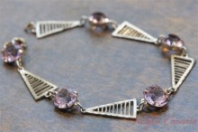 Light Purple Cut Glass Blacelet