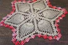 Hand Crochet Lace Table Doily