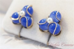 【Coro】 Blue Beads  Earrings