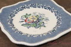 "【Ridgways】 ""Devon Ware"" Square Plate"