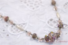 "Art Glass Beads ""Wedding Cake""  Necklace"