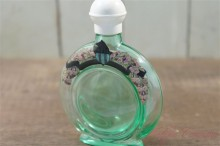 "【4711】 ""Rhine Lavender"" Uranium glass Cologne Bottle"