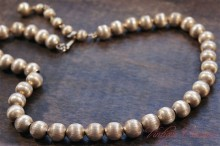 【TRIFARI】 Gold Tone Metal Ball Necklace
