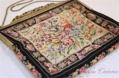 【N.B.M.】 Petit Point Purse Made in Austria