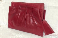 【Bonwit Teller】 Red Leather Clutch Bag