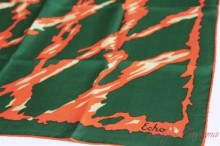 【Echo】 Abstract Print Silk Scarf