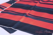 【Echo】 Stripes Silk Long Scarf