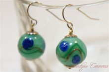 Venetian Glass Beads Remake Pierced Earrings