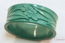 Embossed Flower Plastic Bangle