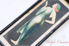 Art Deco Lady Watercolor Painting