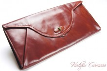 Maroon Leather Clutch Bag