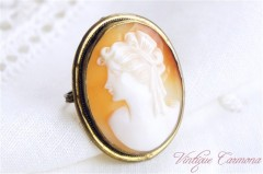 Shell Cameo Brooch,  Pendant Top