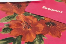 【Jacqmar】 Red Scarf : Flower