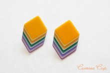 【Lea Stein】 Earrings / Geometric