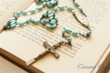 Glass beaded Rosary Necklace