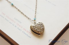 Heart Slide Locket Pendant