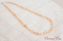 Glass Beads  Necklace Peach Pink