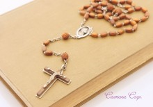 Wood beaded Rosary