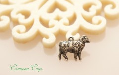 Sheep Motif Metal Charm / Pendant Top
