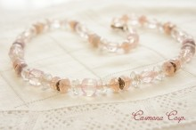 Milky Pink Mix Glass Beads Necklace
