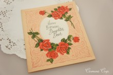 Greeting Card * Rose & Fabric *