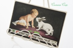Postcard * Baby and Rabbit *