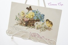 Postcard * Easter Little birds  *