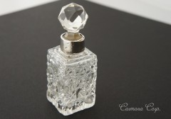 Silver & Crystal Top Purfume Bottle