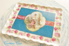 Roses and Lady Print Tray
