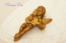 Plaster Angel for a wall : Playing Guitar