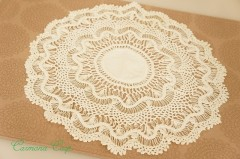 Handmade Lace Doily : Unbleached Color