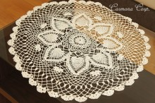 Handmade Lace Doily : Beige