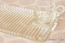 【Hazel Atlas 】 Clear Glass Snack Set