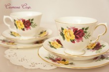 【Shore and Coggins】 Queen Anne Cup & Saucer & Plate x 2Set