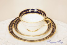 【ROYAL ALBERT CROWN CHINA】TRIO  Cup & Saucer & Plate Set