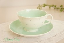 【Susie Cooper 】 Raised Spots  Cup & Saucer