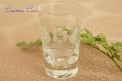 Etched Clear Shot Glass