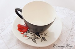 "【Midwinter】 ""Carmen"" Tea Cup & Saucer Set"