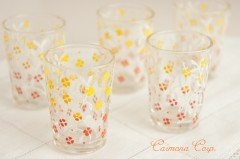 French Shot/Liquer Glass : Tree & Flower 5pcs Set