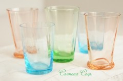 French Shot/Liquer Glass : 3 Colors 5pcs Set