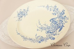 【HB&Cle】 Blue x White Rococo Plate A