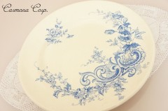 【HB&Cle】 Blue x White Rococo Plate B