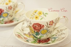 【SPODE CHINA】 GAINSBOROUGH  Cup & Saucer x 2Set