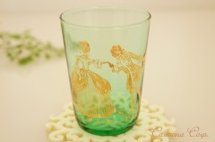 Green Glass with Silhouette Picture Print