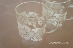 【Jenaer Glass】 Flower Print Glass 2 pcs Set