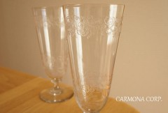 """Gravure a l'acide"" Glass 2pcs Set"