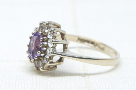 Stering Silver x Amethyst  Ring #14