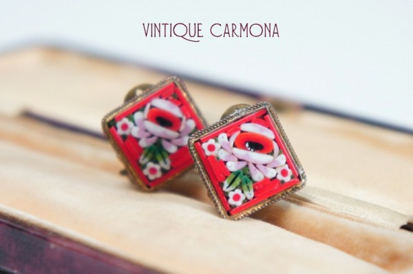 Italian Mosaic Square Earrings