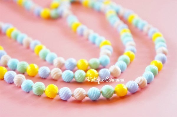 Pastel Color Art Glass Long Necklace
