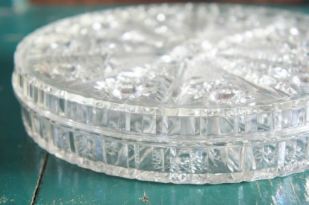 Clear Lucite Round Trinket Box